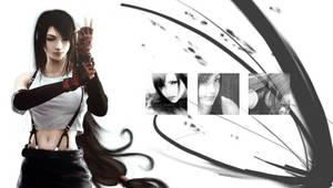PSP Wallpaper: Tifa. by RukiRuki