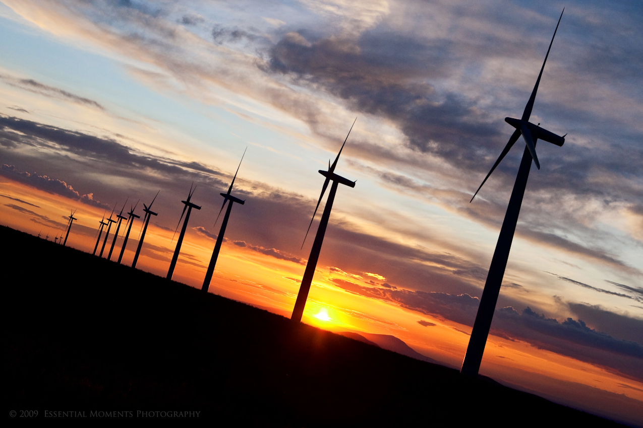 Windmills at Sunset by inessentialstuff