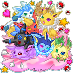 Cute Eevee Family