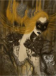 Chocolate Swan by TYEplusPIXIE-DYE