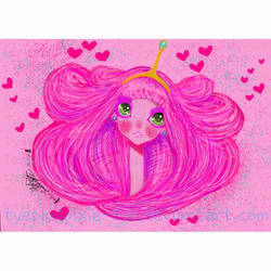 Princess Bubblegum  by TYEplusPIXIE-DYE