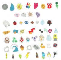 Pokemon League badges by tiedye237