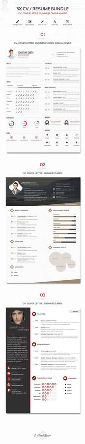 3x CV/Resume Bundle