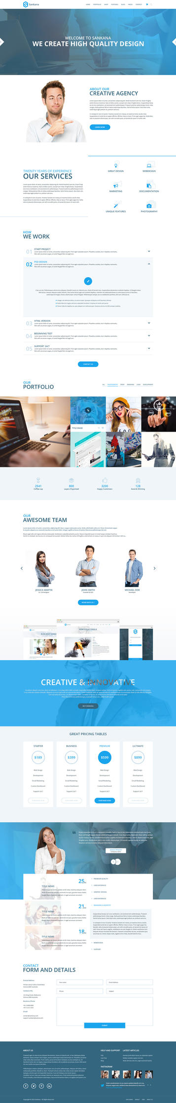 Sankana - MultiPurpose PSD Template by DSaerox
