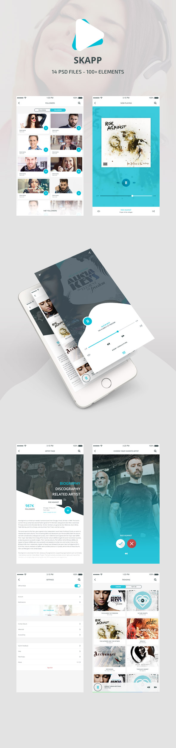 Skapp - Music App Design