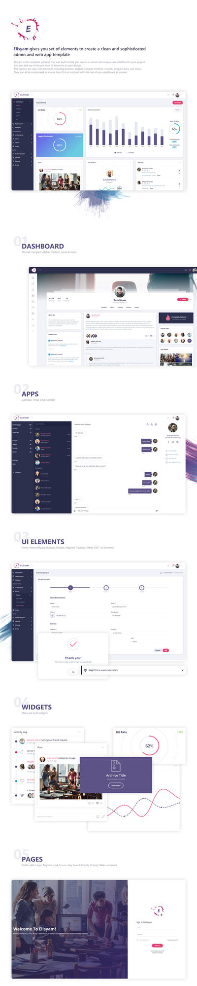 Elisyam - Web App and Admin Dashboard Template by DSaerox