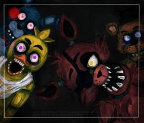 .:FNAF-They're Coming:.+SPEEDPAINT by Al-ix