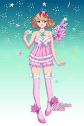 One windged angel of stars by CleopatraDiNekomata