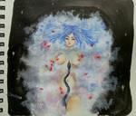 Galaxy in the bathtube by CleopatraDiNekomata