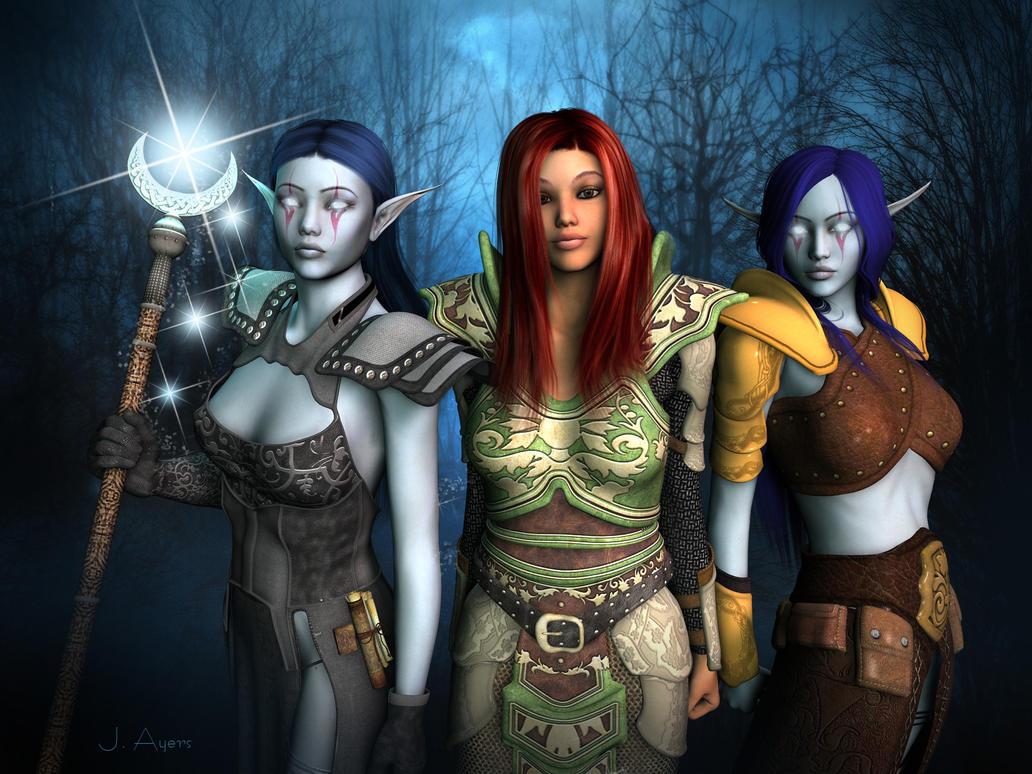 Dia's crew by Vanesse