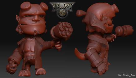 HellBoy Chibi WIP by ToxicBoy-3D