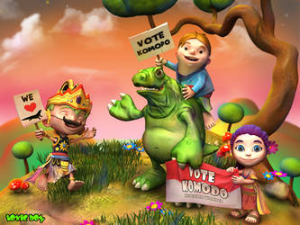 Vote Komodo Island by ToxicBoy-3D
