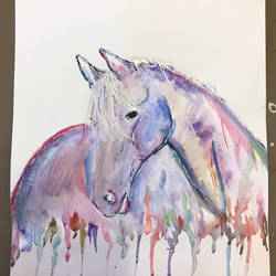 Watercolour Horse Study