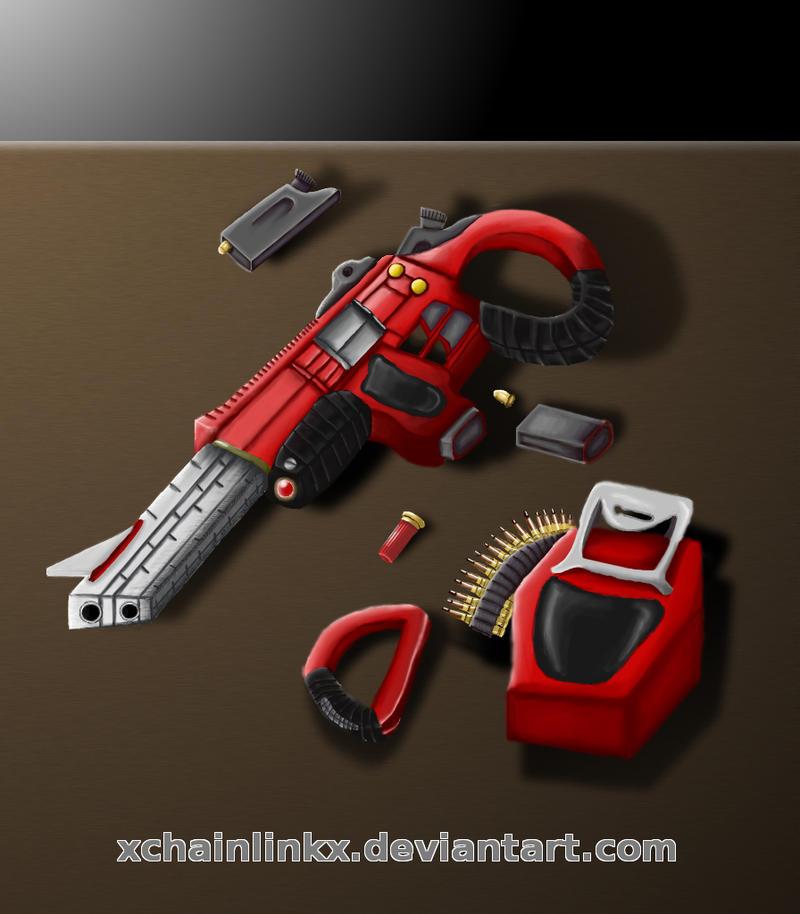 Goah's Gun by xchainlinkx