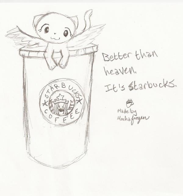 Starbucks Kitty by mochafrozen