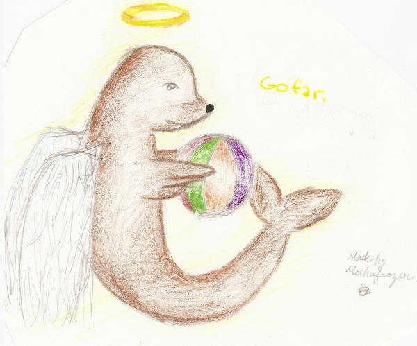Go far-Angel Sea Lion by mochafrozen