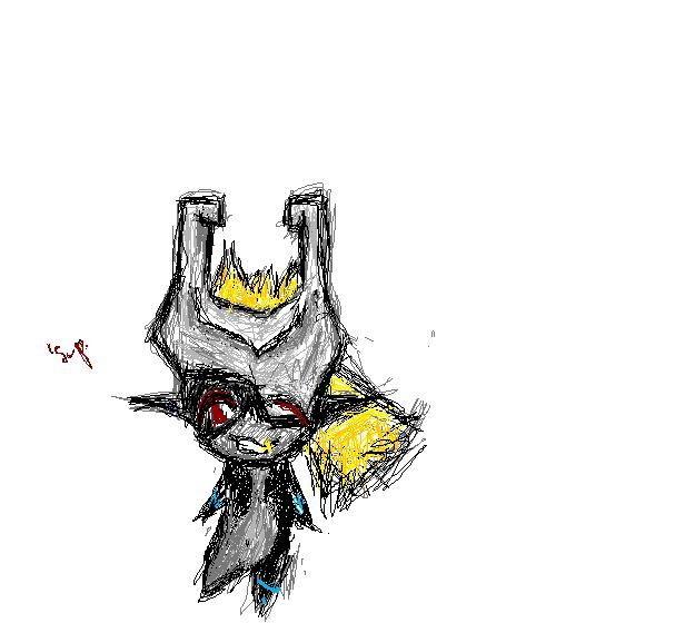 Midna Doodle on MS Paint by mochafrozen
