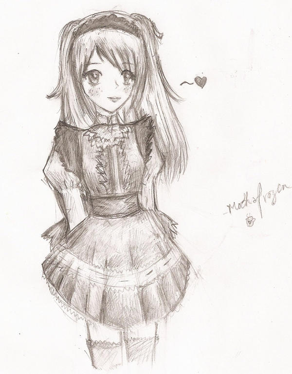 Lolita Waitress 8D by mochafrozen