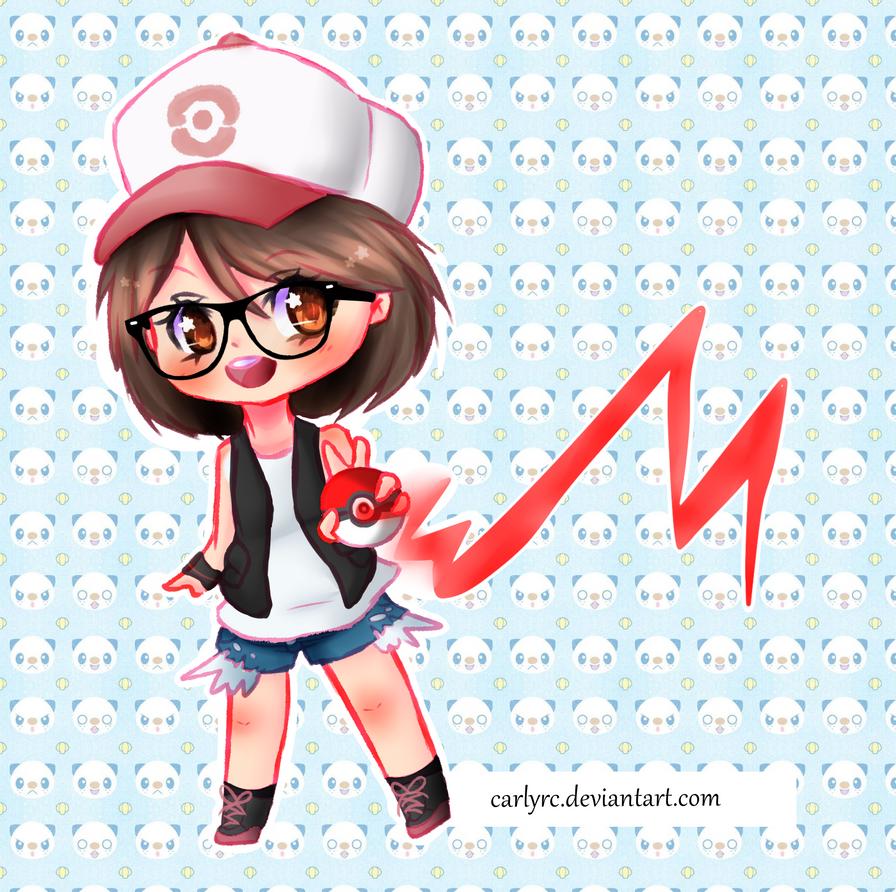 CRC as pokemon trainer White (FANART) by CarlyRC