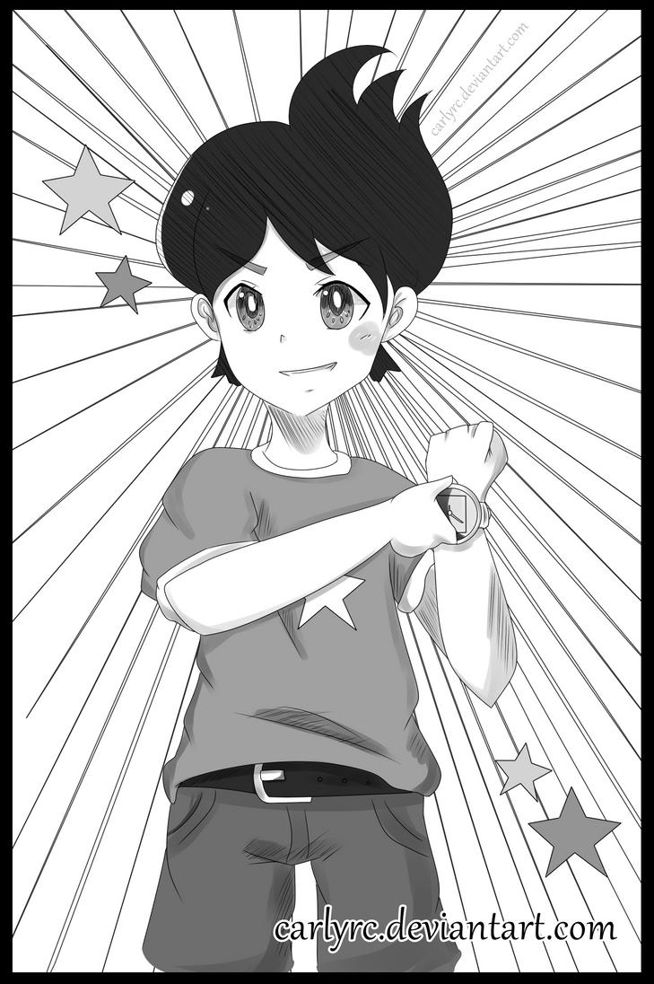 Amano Keita kun FANART (Manga style) by CarlyRC