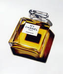 Chanel perfume bottle drawing by DMartIT