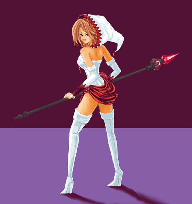 FEZ - White Mage Sorceress by rioka