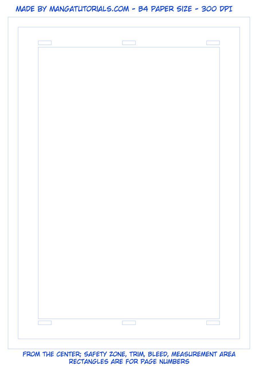 B4 Professional Manga Paper by rioka