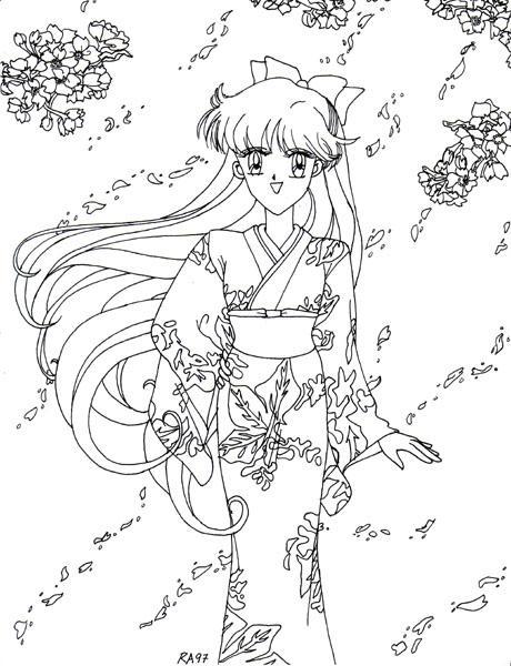 Retro Art: Springtime Minako by rioka