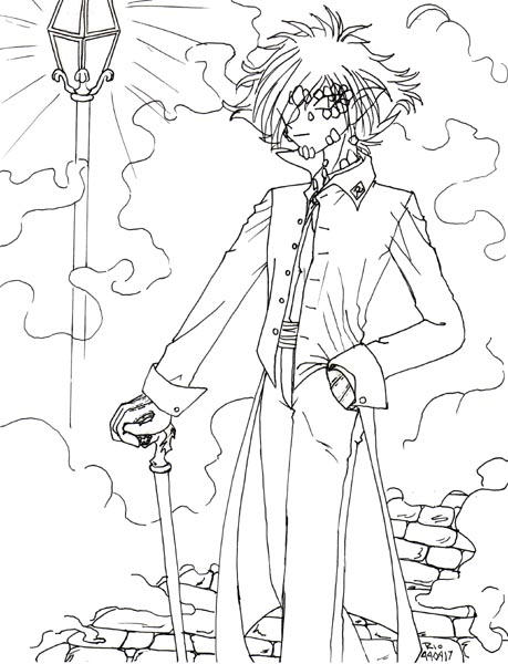 Retro Art: Zelgadis Dressed by rioka