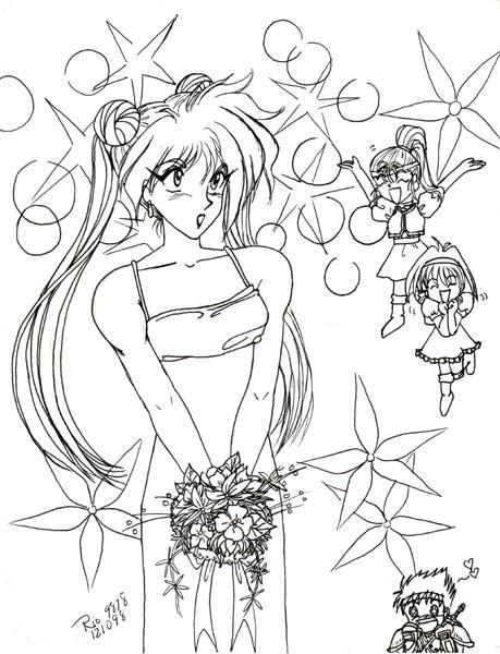 Retro Art: Gourry's Wedding by rioka