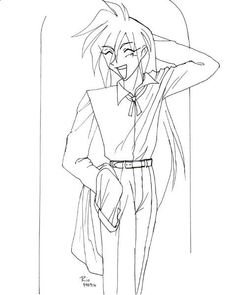 Retro Art: Gourry Dressed by rioka