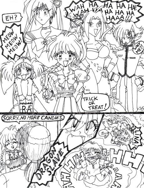 Retro Art: Slayers Halloween by rioka