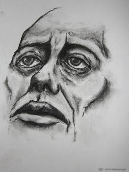 Charcoal face