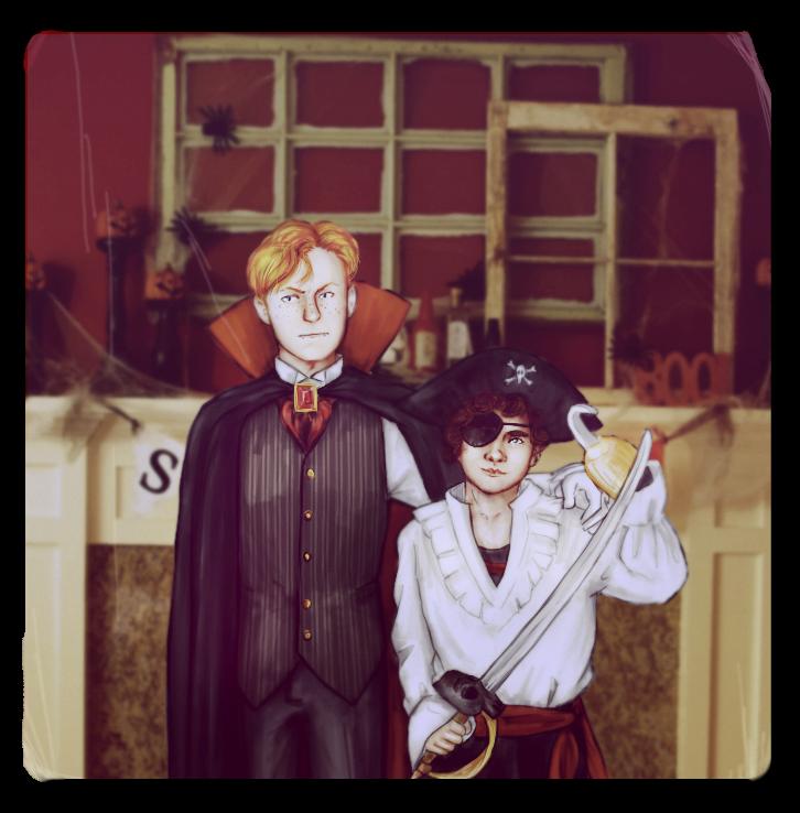 Sherlock BBC: Halloween'80s by MadMoro