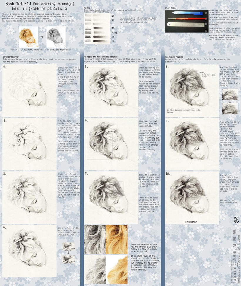 Drawing Blond Hair Tutorial by hedspace77 on DeviantArt