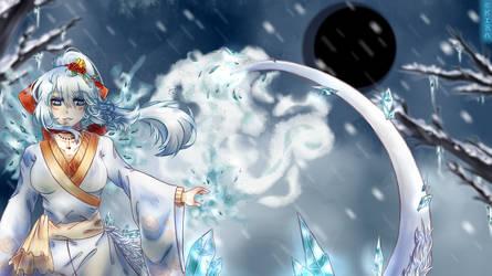 [AT] Holy dragon of snow by Kira-Kyovii