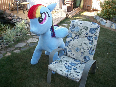 Lifesized Rainbow Dash Plushie