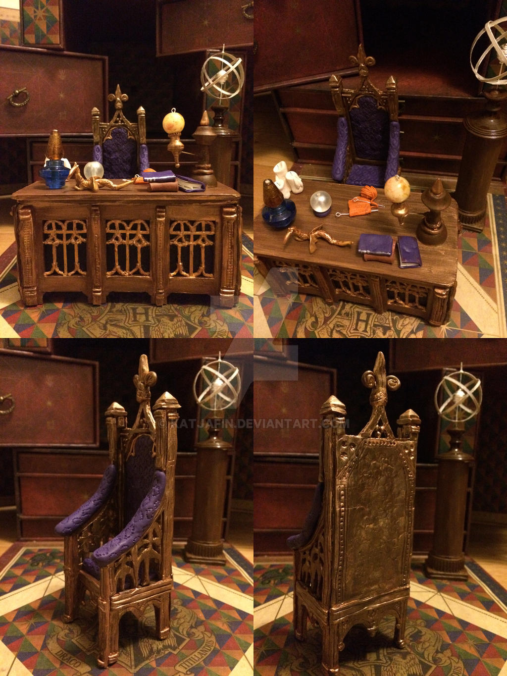Dumbledore S Desk And Chair By Katjafin On Deviantart