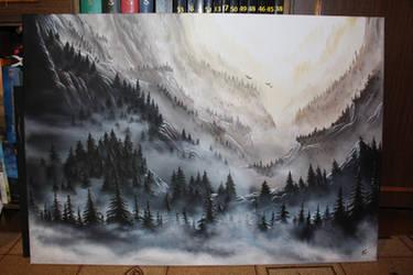 Misty mountains by SerraArc