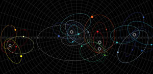 Galactica Stellar Map of Cimtar (Color)