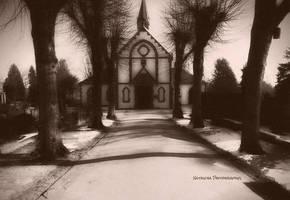 Cemetery Church by Nataschaa