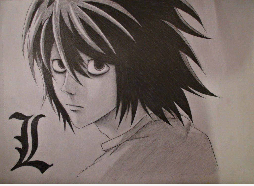 Death Note by Uz...L Death Note Drawing