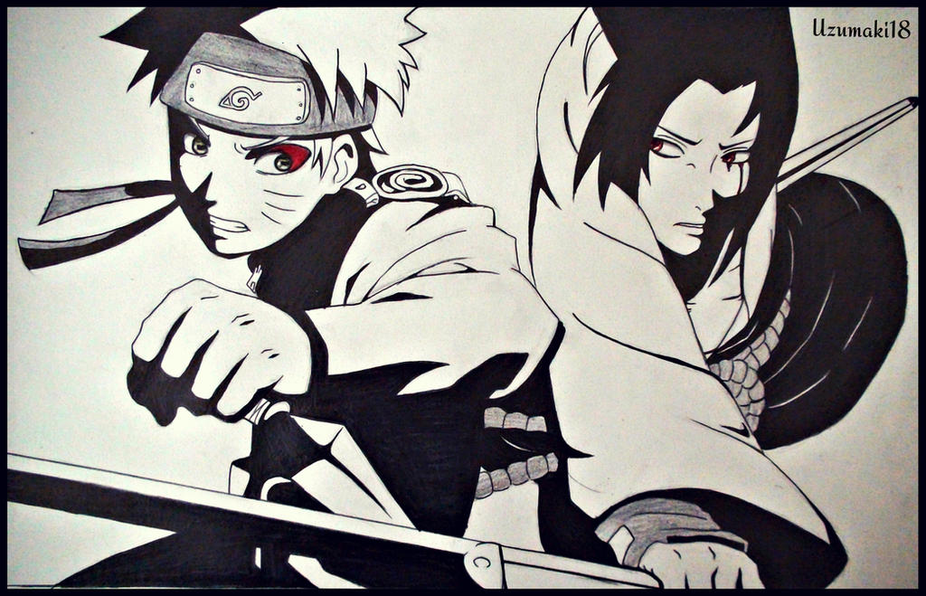 Naruto vs Sasuke by Uzumaki18