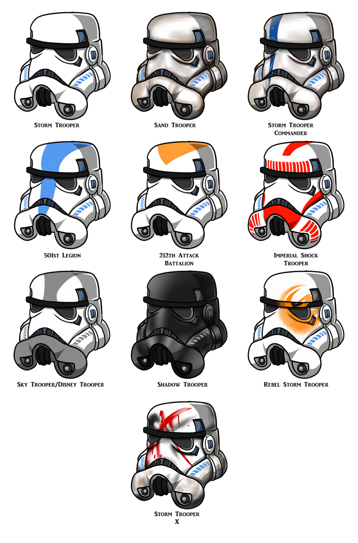 Stormtrooper Helmets By Azure Arts On DeviantArt
