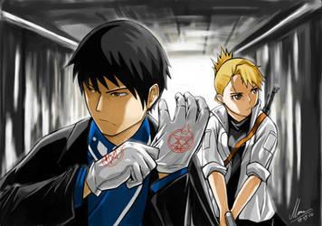 Mustang and Hawkeye by HaruSaku