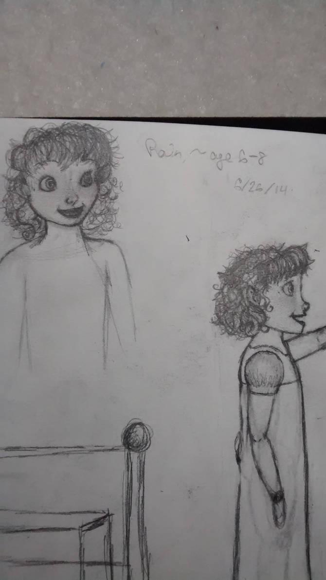 Rain, age 6, detailed
