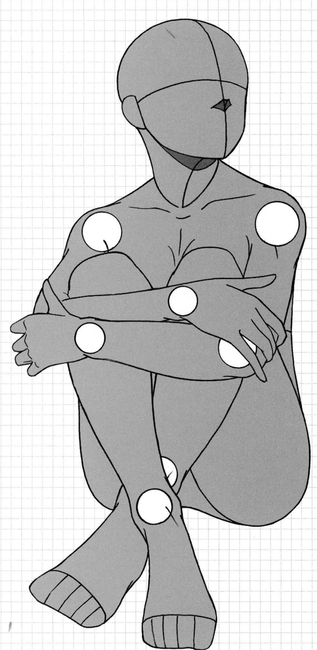 Line Drawing Female Body : Base model by squidwardbases on deviantart