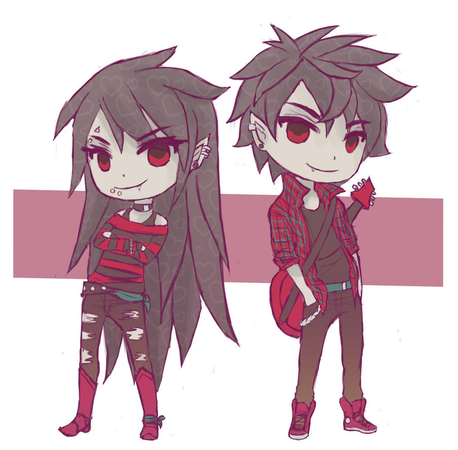 Marceline and Marshall Lee by Ami-Magane