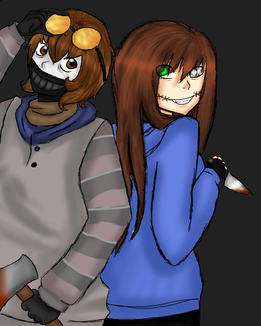 Galleries related ticci toby and slenderman ticci toby and masky