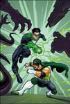 Green Lantern and Hurricane